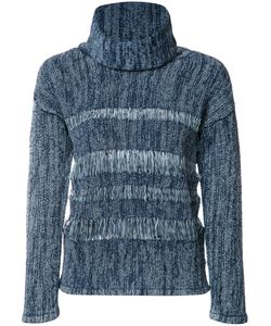AG JEANS | High Neck Jumper Large Cotton/Wool
