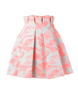 MSGM | Porous Effect Pleated Skirt Size 40 Polyester/Polyamide Fibre