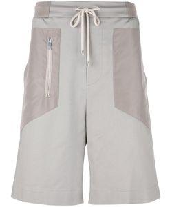 Les Hommes Urban | Zip Detail Drawstring Shorts 46