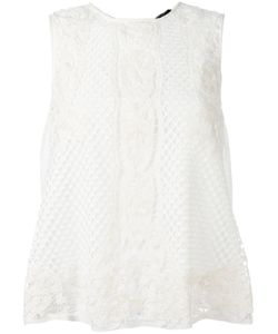 Twin-set | Lace Detail Top Medium Viscose/Cotton/Polyester