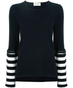 ANTONIA ZANDER | Striped Detail Jumper Medium Cashmere