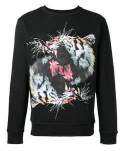 MARCELO BURLON COUNTY OF MILAN | Tiger Print Sweatshirt Large