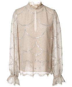 Alexis | Lucy Blouse Small Polyester/Nylon/Metallized Polyester/Silk