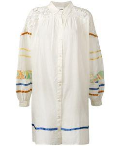 Semicouture | Платье-Рубашка С Контрастными Полосками