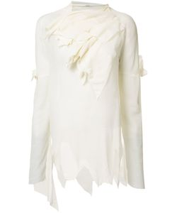 AGANOVICH | Draped Asymmetric Blouse 36 Cotton