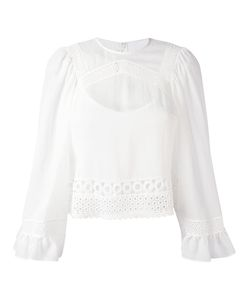 Mcq Alexander Mcqueen | Blouse With Lace Detail And Frill Cuffed Sleeves
