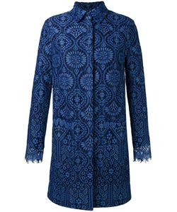 MSGM | Scalloped Cuffs Midi Coat 40 Polyamide/Viscose/Cotton