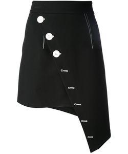 SSHEENA | Asymmetric Buttoned Skirt 42 Cotton/Spandex/Elastane/Polyamide