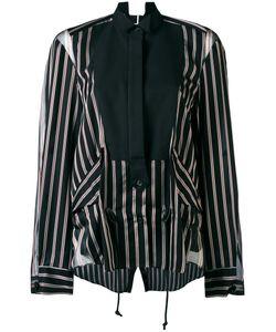 Sacai   Pin Stripe Tuxedo Bib Shirt Size 3