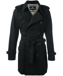 Aquascutum   Double Breasted Trench Coat 40 Cotton/Polyester