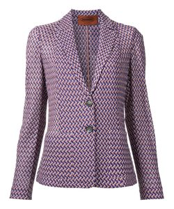 Missoni | Zig-Zag Pattern Blazer 46 Cotton/Viscose