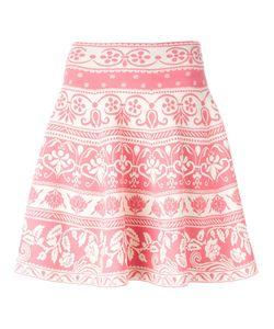 Alexander McQueen | Jacquard Fla Skirt Xs Viscose/Polyester/Polyamide/Spandex/Elastane