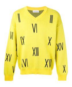 GOSHA RUBCHINSKIY | Numbers V-Neck Sweater Size Medium