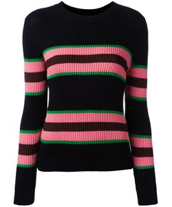 Chinti And Parker | Striped Ribbed Jumper Xs Silk/Cotton