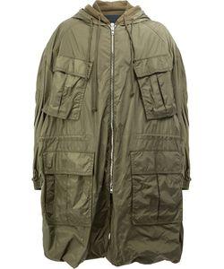 JUUN.J | Multiple Pockets Hooded Coat 50 Cotton/Nylon/Polyester