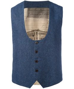 AL DUCA D'AOSTA   1902 Dipped Scoop Neck Waistcoat Size 48