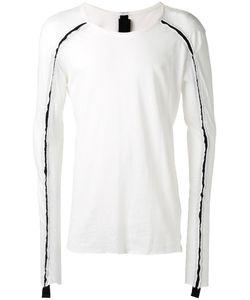 THOM KROM | Contrast Detail T-Shirt Small Cotton/Linen/Flax