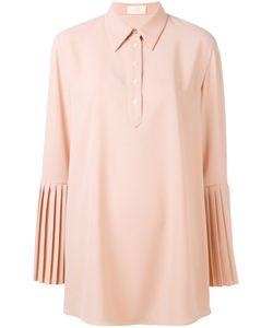 Sara Battaglia | Pleated Sleeve Shirt