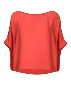 PETER COHEN | Short Sleeve Draped Top Size Xl