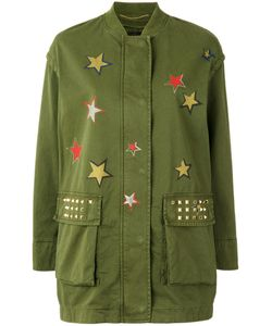 BAZAR DELUXE | Star Print Military Coat 42 Cotton/Spandex/Elastane/Brass