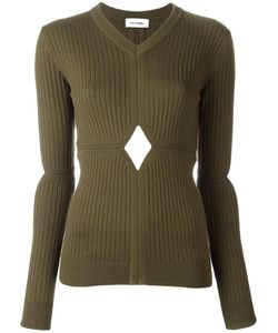 Courreges | Courrèges Cut-Off Detailing Knit Blouse 1 Merino/Polyamide/Spandex/Elastane