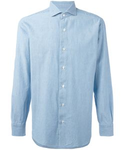 Barba | Slim-Fit Denim Shirt Size 40