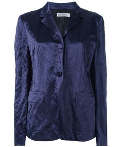 Jil Sander | Crushed Velvet Blazer 40 Cotton/Viscose/Metal/Cupro
