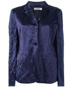 Jil Sander | Crushed Velvet Blazer 40 Cotton/Viscose/Metal/Cupro