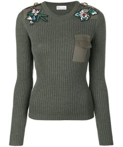 Red Valentino | Patches Ribbed Jumper