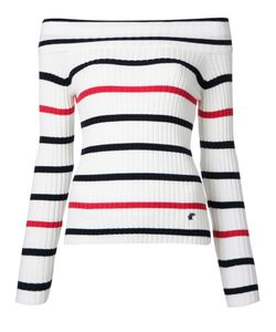LOVELESS | Off Shoulder Striped Jumper
