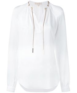 Michael Kors   Tie-Neck Blouse Size Large