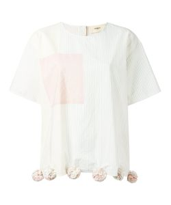 Ports | 1961 Pompom Hem T-Shirt 42 Cotton