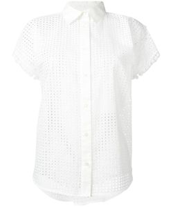 Love Moschino   Perforated Short-Sleeve Blouse 42 Cotton