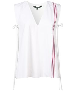 Derek Lam | Stripe Detail Sleeveless Blouse