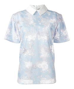 Carven | Classic Collar Lace T-Shirt 38 Cotton/Nylon