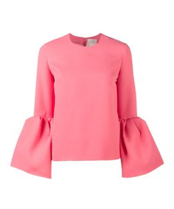 ROKSANDA | Truffaut Bell-Sleeve Top With Round Neck Size 8