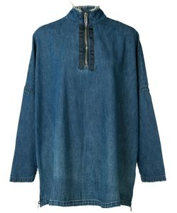 Victor Alfaro | Zipped Denim Blouse 0 Cotton