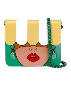 Yazbukey | Face Detail Shoulder Bag Leather/Pvc