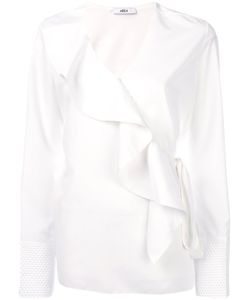AREA | Ruffle-Front Blouse Women 38