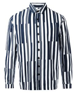 Sunnei   Printed Stripe Shirt Size Large