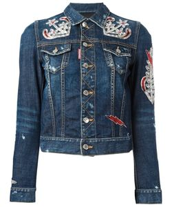 Dsquared2 | Anchor Patch Denim Jacket 38 Cotton/Spandex/Elastane