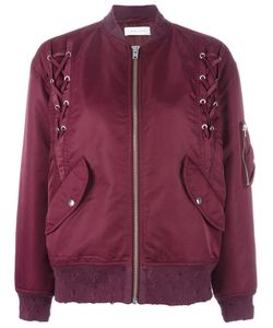 Iro | Ilisa Lace-Up Bomber Jacket 38 Polyester/Nylon