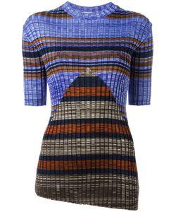 Céline   Asymmetric Ribbed Knit Top Size Small