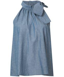 A PIECE APART | Apiece Apart Chambray Tie Neck Halter Top Size 0