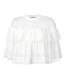 Sea | Lace Trim Pleated Blouse