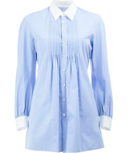 JUNYA WATANABE COMME DES GARCONS | Junya Watanabe Comme Des Garçons Pleated Front Striped Shirt Size
