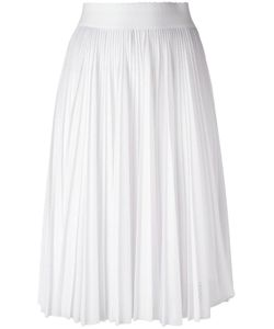 Givenchy   Perforated Pleated Skirt 40 Polyester/Acetate/Silk