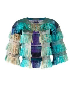 Alberta Ferretti | Degradé Fringed Cropped Jacket