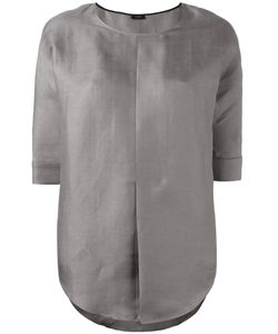 Joseph | Front Pleat Blouse 42 Silk/Linen/Flax