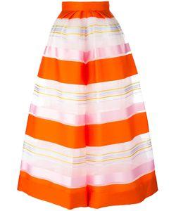 Delpozo   Striped Organza Trousers 34